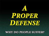 Pastor John S. Torelll - sermon on A PROPER DEFENSE - Resurrection Life of Jesus Church