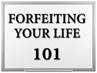 Pastor John S. Torell - sermon on FORFEITING YOUR LIFE 101 - Resurrection Life of Jesus Church
