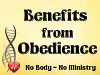 Pastor John S. Torell - sermon on BENEFITS FROM OBEDIENCE - Resurrection Life of Jesus Church